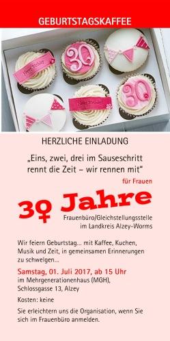 Einladung Zum Geburtstagskaffee Frauen In Aktion 2019